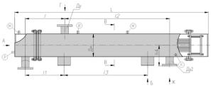 Подогреватель, пароводяной ПП2 (с плоскими днищами)