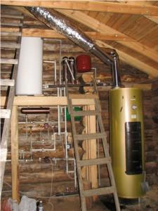 Пример установки дровяного котла КВр в частном доме